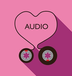 I Love Audio vector image