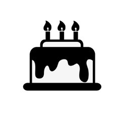 icon black and white cake vector image