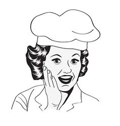 Lady Chef retro vector