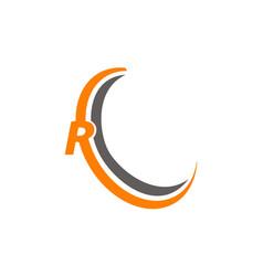 Letter r modern vector