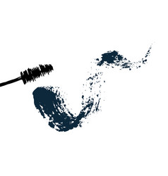 Mascara brush and with messy stroke vector