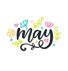May spring modern calligraphy vector