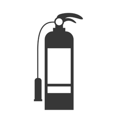 Monochrome silhouette with fire extinguisher vector