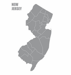 New jersey county map vector