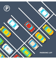 Parking Lot Poster vector image