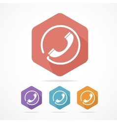 Phone Tube flat icons set vector image