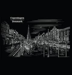 pier in copenhagenblack vector image