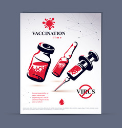Planned immunization flyer template of disposable vector