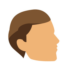 profile young man head icon vector image