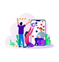 rating star in social media advertisement vector image