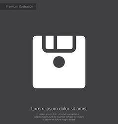 Save premium icon white on dark background vector