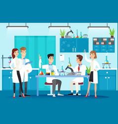 scientific laboratory flat vector image