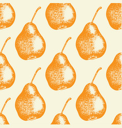 seamless pattern with orange pears vector image