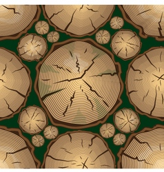 Seamless Pattern with Tree Rings vector image