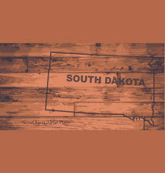 South dakota map brand vector