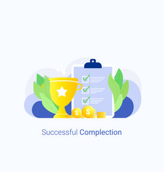 successful complection concept vector image