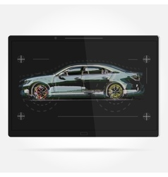 template Tablet with a vector image