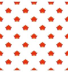 Temple pattern cartoon style vector