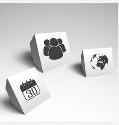three modern design vector image