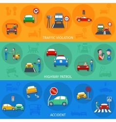 Traffic Violation Banner Set vector image