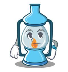 waiting lantern character cartoon style vector image