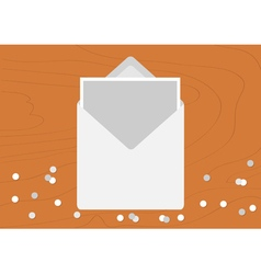 White Opened Blank Envelope letter with greeting vector image