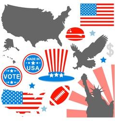 American symbols set vector image