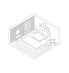 bedroom color line vector image