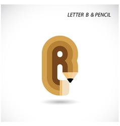 Creative letter B icon abstract logo vector image
