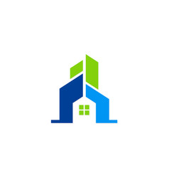 house building abstract logo vector image