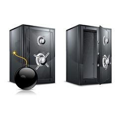 metal safes vector image