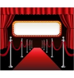 Red carpet movie premiere elegant event red vector image vector image