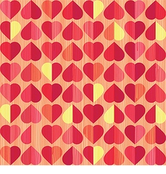 retro heart seamless pattern vector image vector image