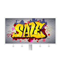 Sale lettering in hip-hop graffiti style urban vector