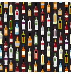 Silhouette Alcohol Bottle vector image vector image