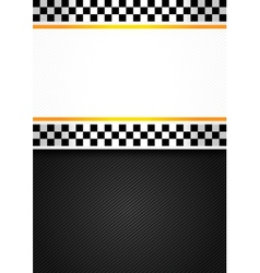 Taxi blank racing background vector image