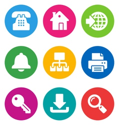 color web icons vector image vector image