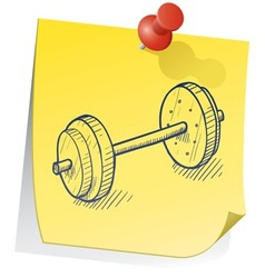 doodle sticky note weight exercise vector image vector image