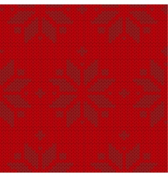red and black sweater winter seamless pattern vector image