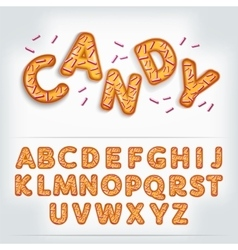 funny glossy candy alphabet vector image vector image