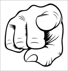 Hand gestures - You vector image vector image