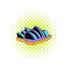 Sydney Opera House icon comics style vector image