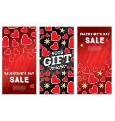 Valentines day sale banner set vector
