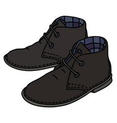 black suede shoes vector image