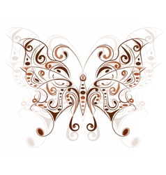 Colorful butterfly with floral ornaments vector image