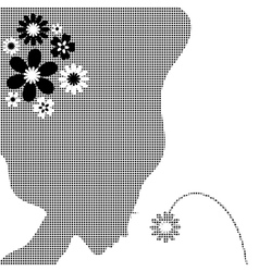 Girl with a flower vector image vector image