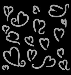 Heart shape with brush painting vector