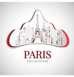 Paris city emblem vector image