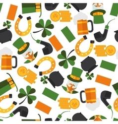 seamless pattern of Saint Patrick vector image vector image