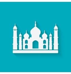 Taj Mahal on blue background vector image